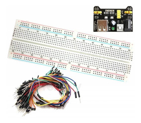 Kit Protoboard 830 + Regulador Tensão + 65 Jumpers