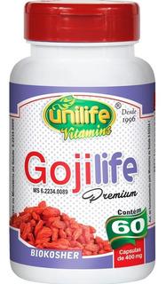 Gojilife Premium Unilife 60 Cápsulas Novo Gojiberry Original