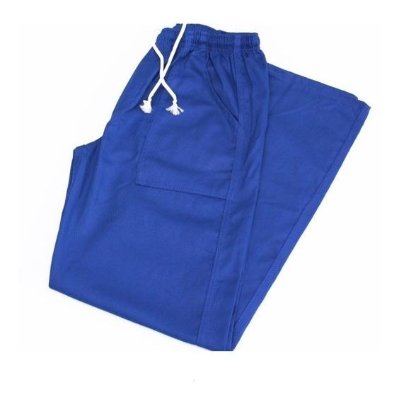 Calças Em Brim Azul (9uni) Uniforme Profissional
