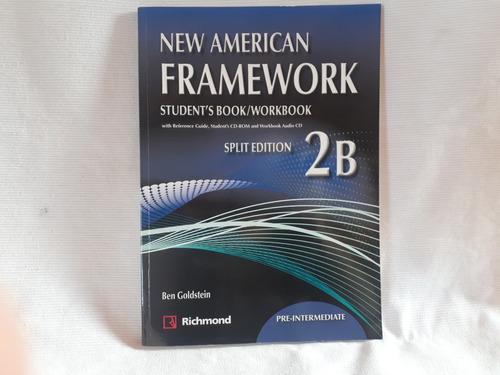 Imagen 1 de 4 de New American Framework 2b Sb & Wb Split Pre Intermediate Cds