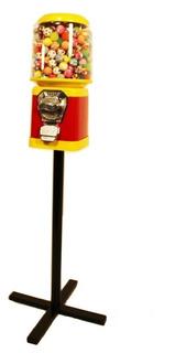 1 Máquina 1000 Bolinhas 27mm 1 Pedestal Kit Vending Machine