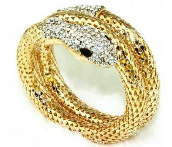 Pulsera Serpiente De Moda Color Dorado