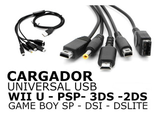 Multicargador Usb Para Consolas Nintendo + Psp