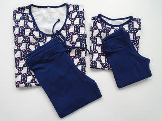 Pijama Legging Mãe E Filha Em Algodão Com Elastano