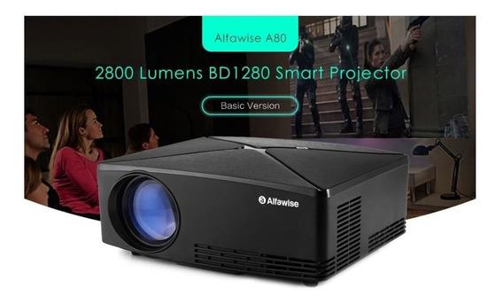 Alfawise A80 Projetor 2800 Lumens Resolução Hd Nativo