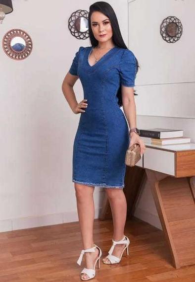 Vestido Jeans Midi Moda Evangélica * Vj02