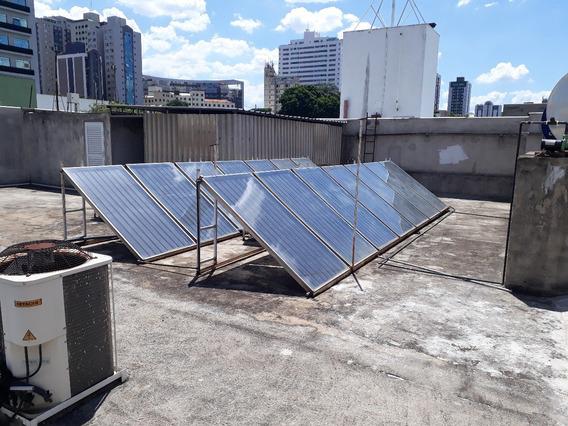 Coletor Solar 30 Tubos Vacuo Produz 500 Lts Agua Quente Dia