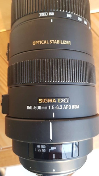 Sigma - Dg 150-500mm 1:5-6.3 Apo Hsm Para Nikon (f Mount)