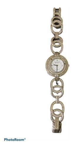 Yh Reloj Pulsera Brighton Labrado Dama Plata A1 Antiguo Pied
