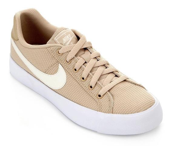 Tenis Feminino Nike Court Royale Bege - Original + Nf