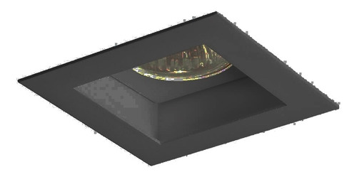Imagem 1 de 2 de Embutido Flat 1x Dicroica Gu10 Preto Newline In65002pt