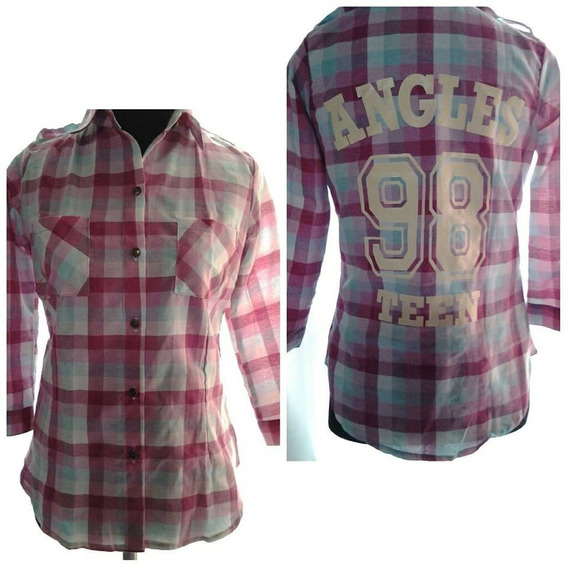 Camisa Escocesa Manga 3/4 Regulable