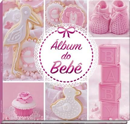 Livro Album Do Bebe - Rosa