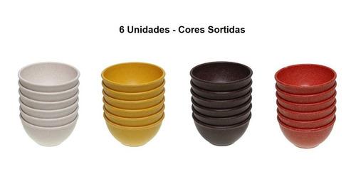 Imagem 1 de 6 de Tigela Cumbuca Plástica 500ml Evo Cores  - Kit C/6 Unidades