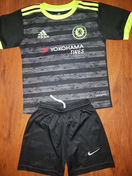 Equipo Futbol Camiseta Short No Original Niño Talle 4 Años