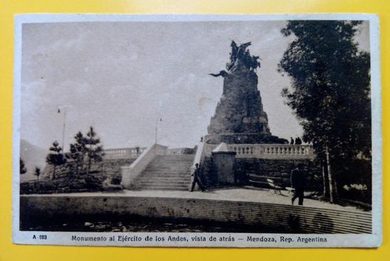 Tarjeta Postal: Monumento Al Ejército De Los Andes Mendoza