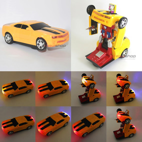 Boneco Transformers Bumblebee Camaro Movido A Pilha Bateria