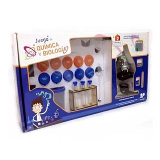 Juego De Quimica Y Biologia Galileo Con Microscopio Infantil