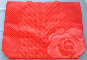 Bolsa Vermelha Lancôme Interior Azul. Impermeavel