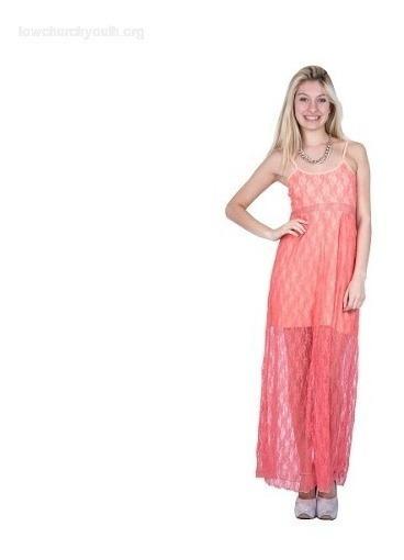 Vestido De Fiesta Recepcion Encaje Largo Transparencia #103