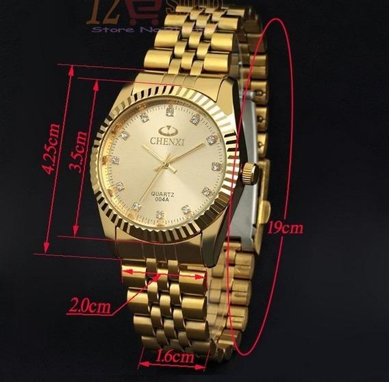 Relógio Masculino Xenxi Estilo Luxo Dourado Alta Qualidade
