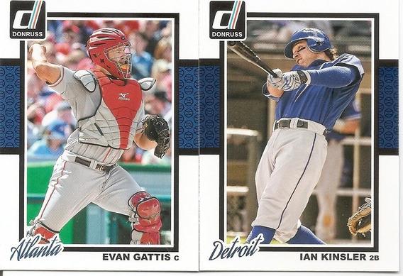 2014 Panini Baseball Donruss Coleção Base Completa 155 Cards