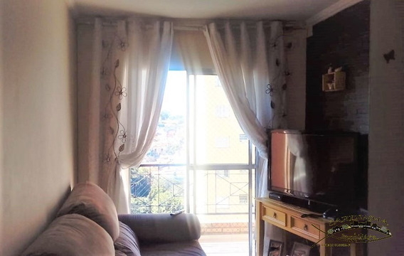 Apartamento Á Venda - 2 Dormitórios, Área De Serviço E 1 Vaga De Garagem - Jd. Monte Alegre - Taboão Da Serra - Sp - Ml1039