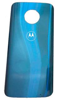 Tampa De Vidro Traseira Motorola Moto G6 Plus Xt1926 - Azul Topázio C/ Cola