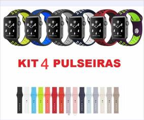 Kit 4 Pulseiras 42mm Apple Watch Ou Iwo 5