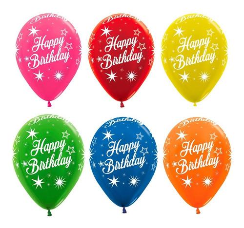 Bombas R12 Feliz Cumpleaños Destellos X 12 Unds Sempertex.