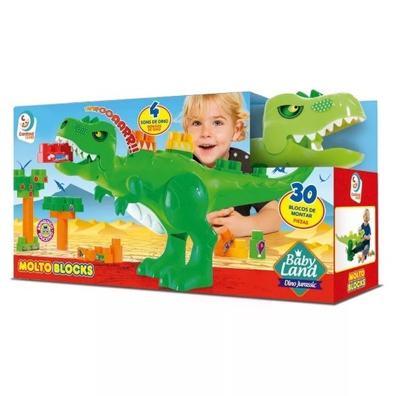 Baby Land Dino Jurassic Blocos De Montar Brinquedo Educativo