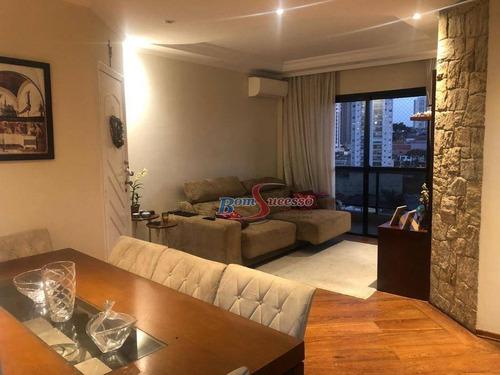 Apartamento Com 3 Dormitórios À Venda, 114 M² Por R$ 720.000,00 - Jardim Anália Franco - São Paulo/sp - Ap2914