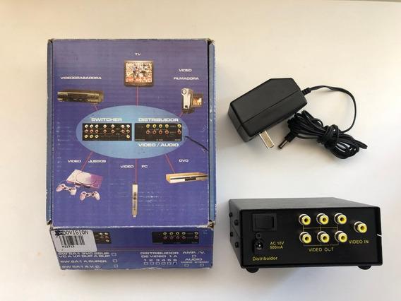 Splitter Distribuidor Amplificador Rca 1 A 6 Salidas