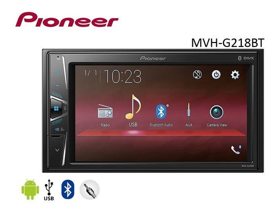 Dvd Pioneer Mvh-g218bt 2 Din Com Tela 6,2 Usb E Bluetooth