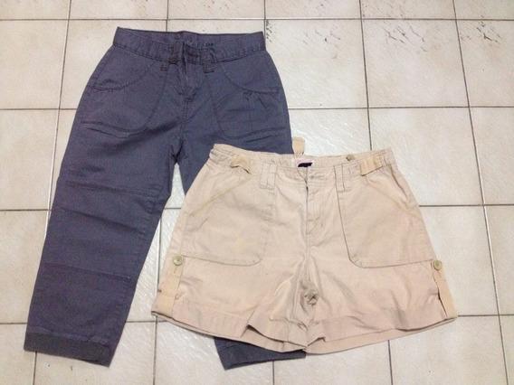 Lote De 2 Capris/shorts Importados Marca Gap Talle 10/16