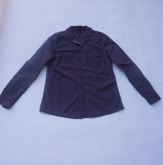 Camisa Gap Mujer Con Motas Talle S