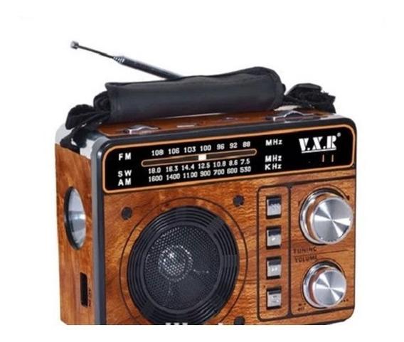 Radio Am Fm Sw Mp3 Caixa De Som Bluetooth Usb Lanterna Retro