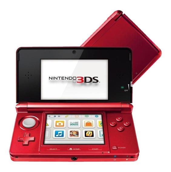 Nintendo 3ds Vermelho + Cartão 2gb - Original
