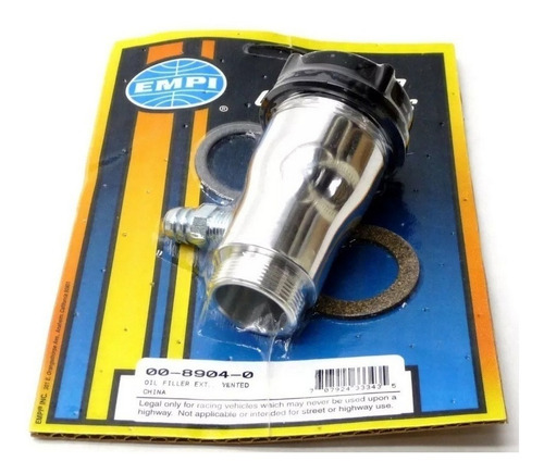 Respiro De Óleo Do Motor Vw Fusca Aluminio Polido Reto Empi