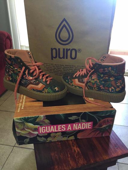 Zapatillas / Botitas De Diseño Puro . Talle 36