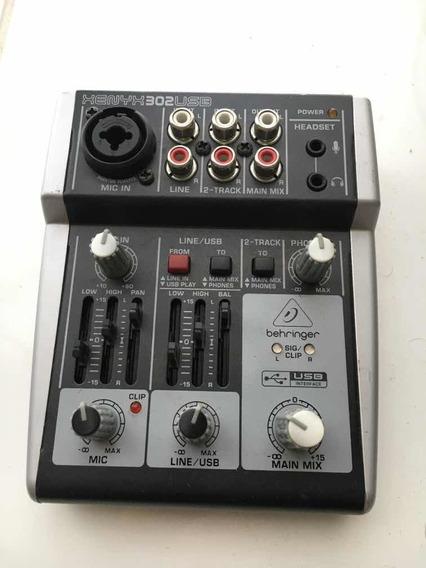 Mesa Mixer Xenyx Bivolt - 302usb - Behringer Para Live