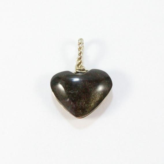 Corazón Obsidiana Dorada