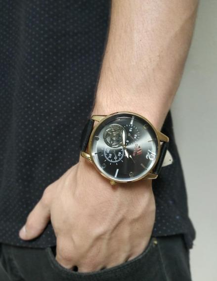 Relógio Masculino Pulseira De Couro Promoção