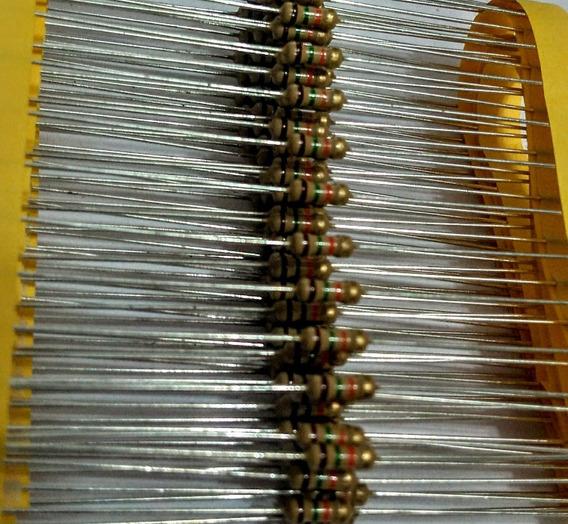 100pçs Resistor Cr25 15k 5% 1/4w