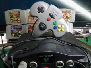 Nintendo 64 Con Mario Bros El Control Esta Nuevo Es Original