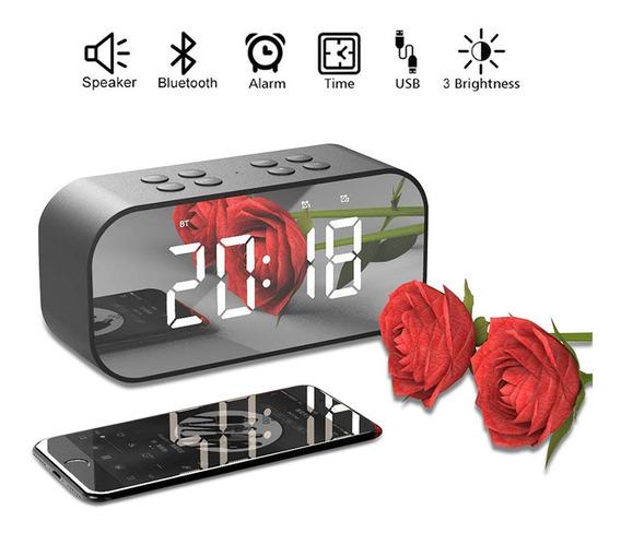 Reloj Despertador Digital-bocina Bluetooth