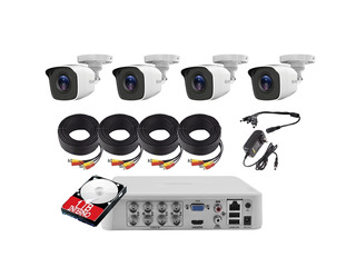 Kit Circuito Cerrado 4 Camaras Hikvision 1080p Dvr 8 Can 1tb