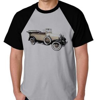 Camiseta Raglan Blusa Camisa Carro Antigo Raridade T Ford