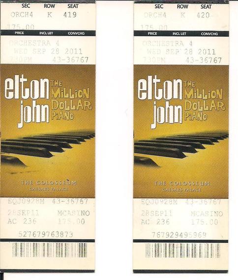 Ingresso Show Elton John - The Millon Dollar Piano 2011 2 Un