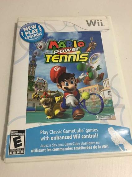Jogo Mário Power Tennis Nintendo Wii Com Manual